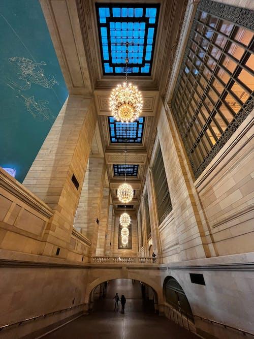 Low View of Museum Indoors