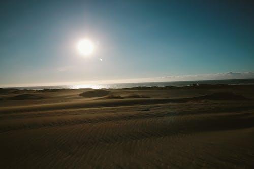Foto d'estoc gratuïta de dunes de sorra, sol, sorra