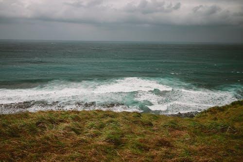 Gratis stockfoto met dageraad, golven, gras, h2o