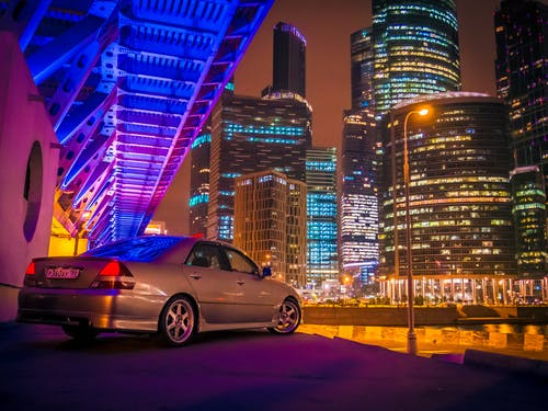 Car And Buildings
