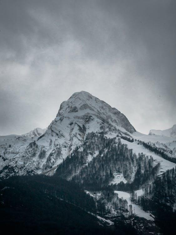 вершина, высокий, гора