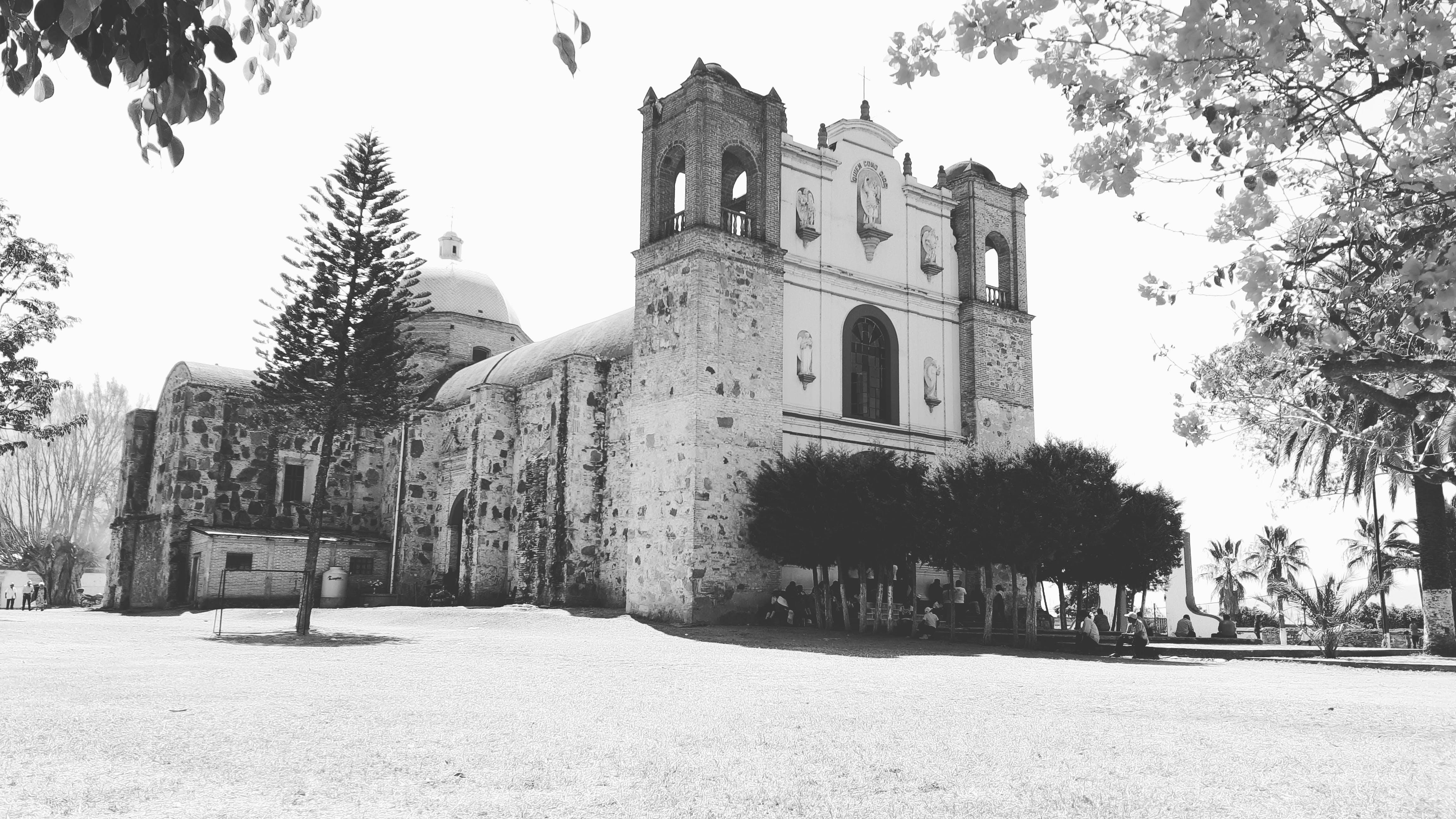 Grayscale Photo Of Church
