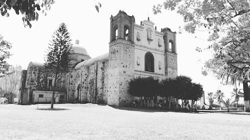 建築, 教会, 白黒の無料の写真素材