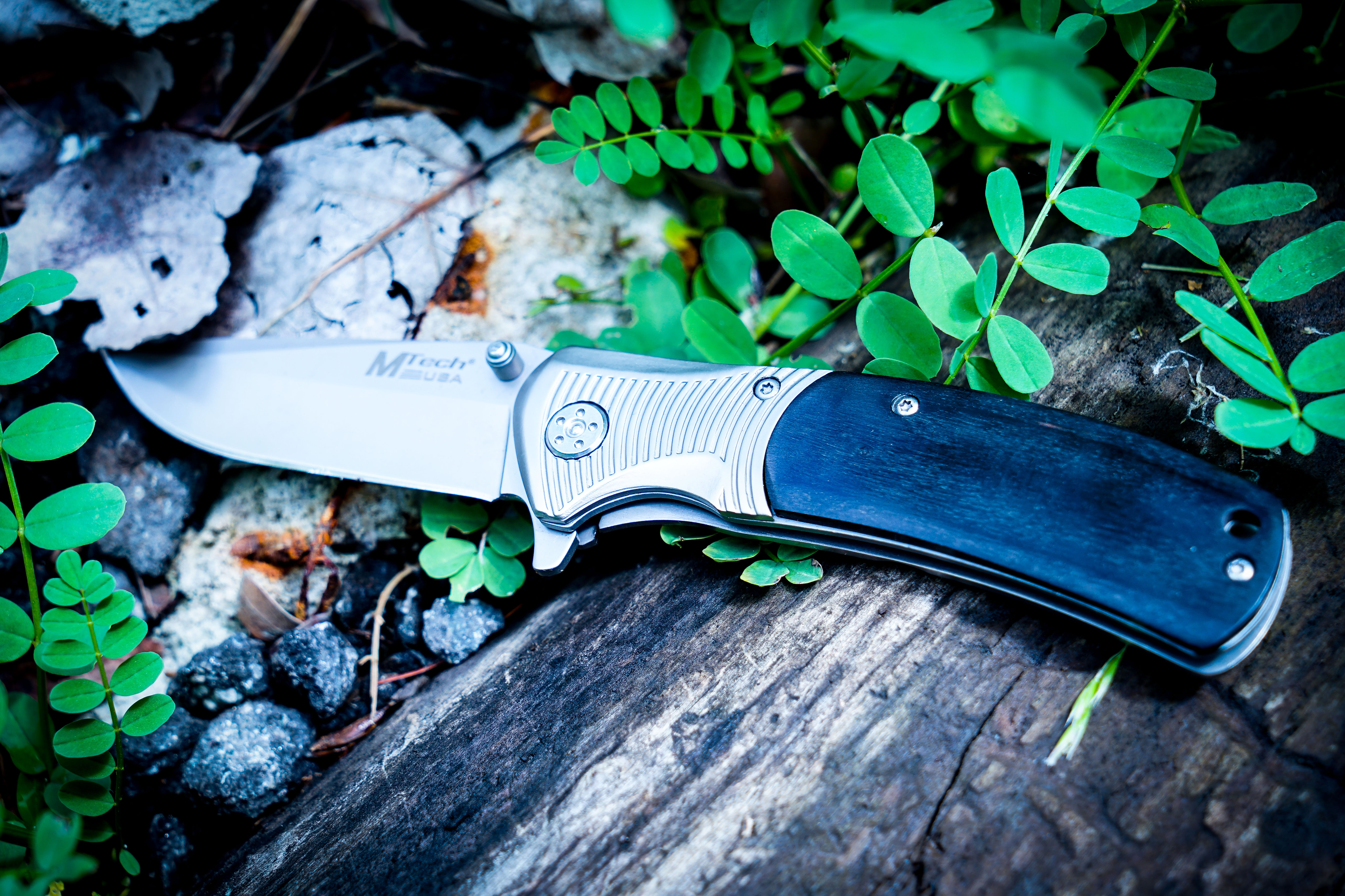 Photography of Knife Near Leaves
