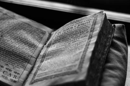 Kostenloses Stock Foto zu bibliothek, bücher, buchseiten, schwarz und weiß