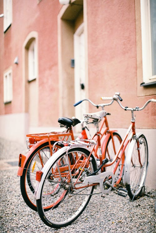 Free stock photo of 35mm film, red, red bicycle