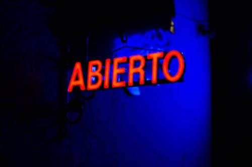 Kostenloses Stock Foto zu leuchtreklamen, nacht, nachtclub, rot