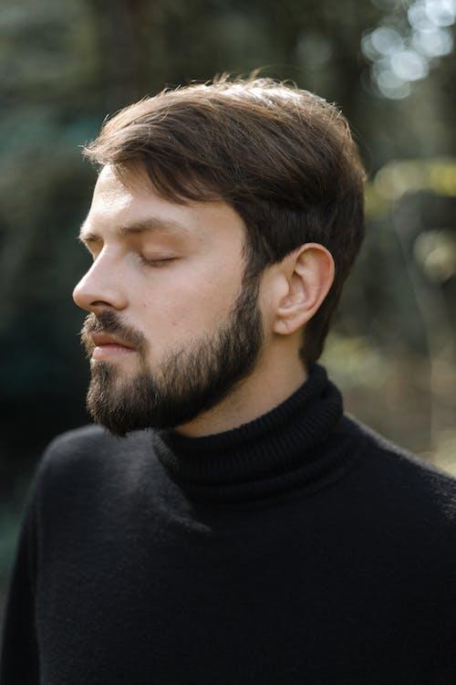 Foto profissional grátis de 3x4, barba, cabelo castanho