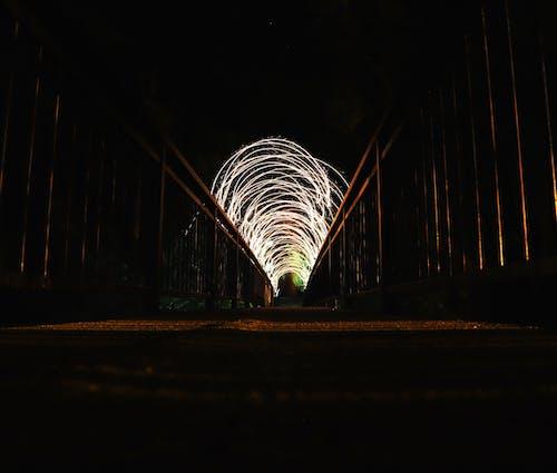 Immagine gratuita di arco, arte, bellissimo, fotografia notturna