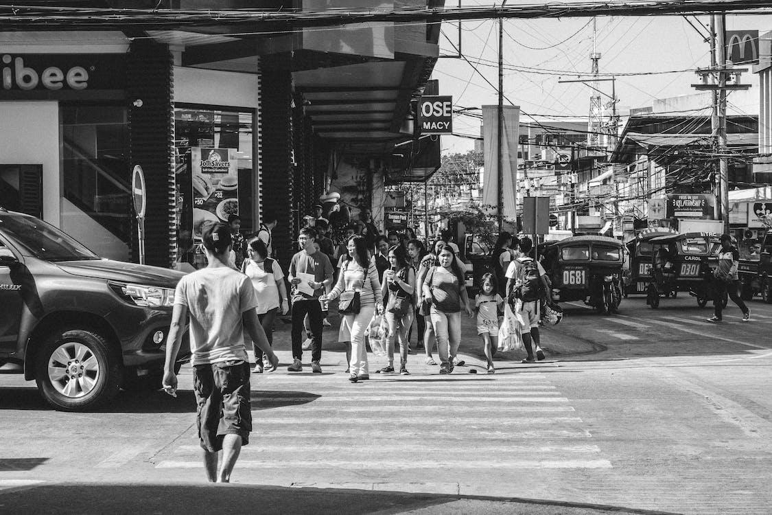blanco y negro, calle, carretera