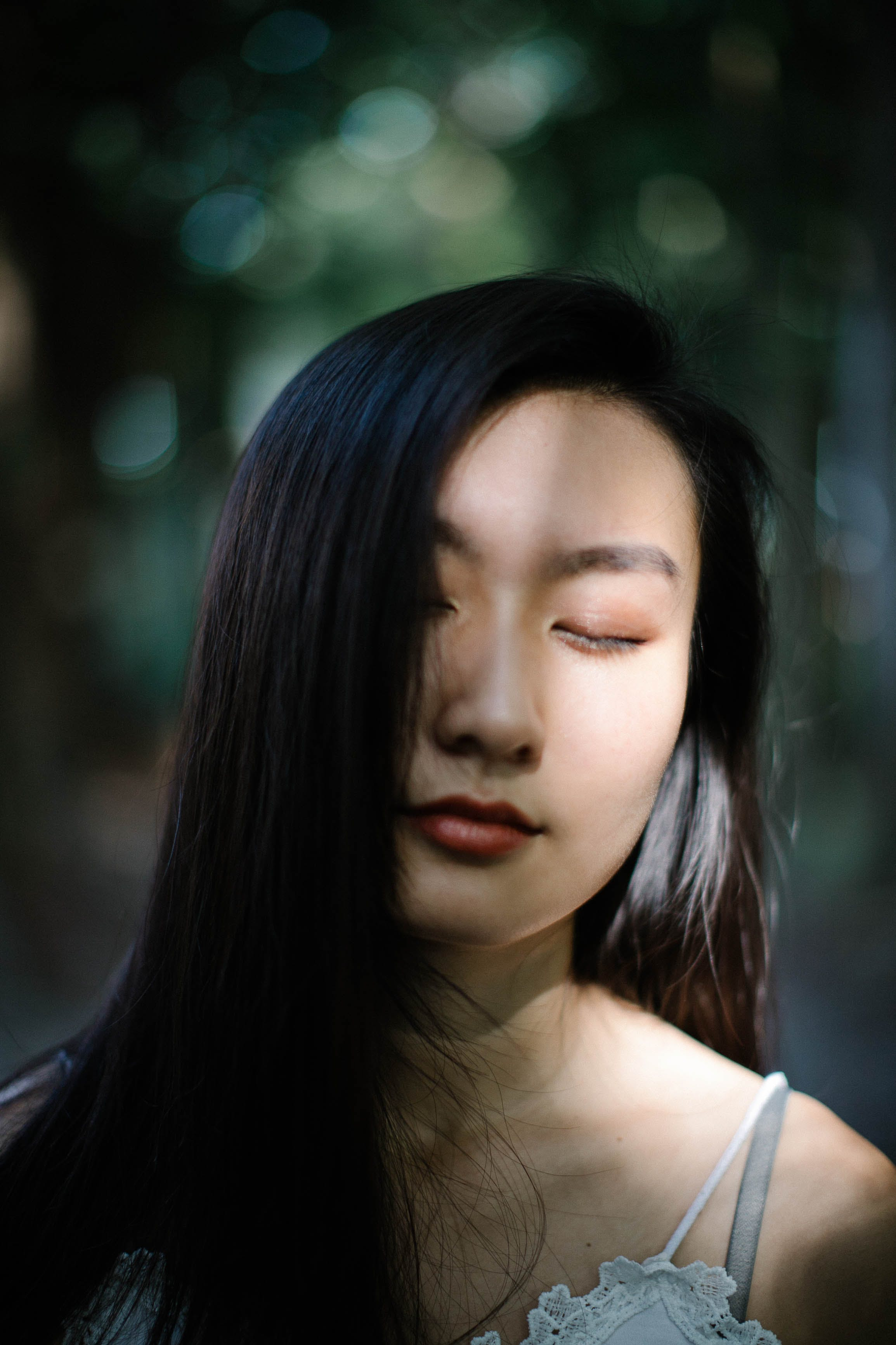 Close-Up Photography of a Woman With Closed Eyes