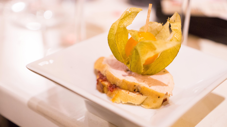 Sandwich on White Plate