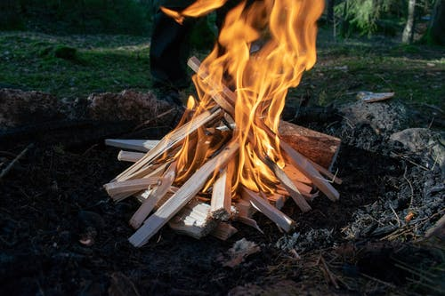 Photo of Burning Woods on Firepit