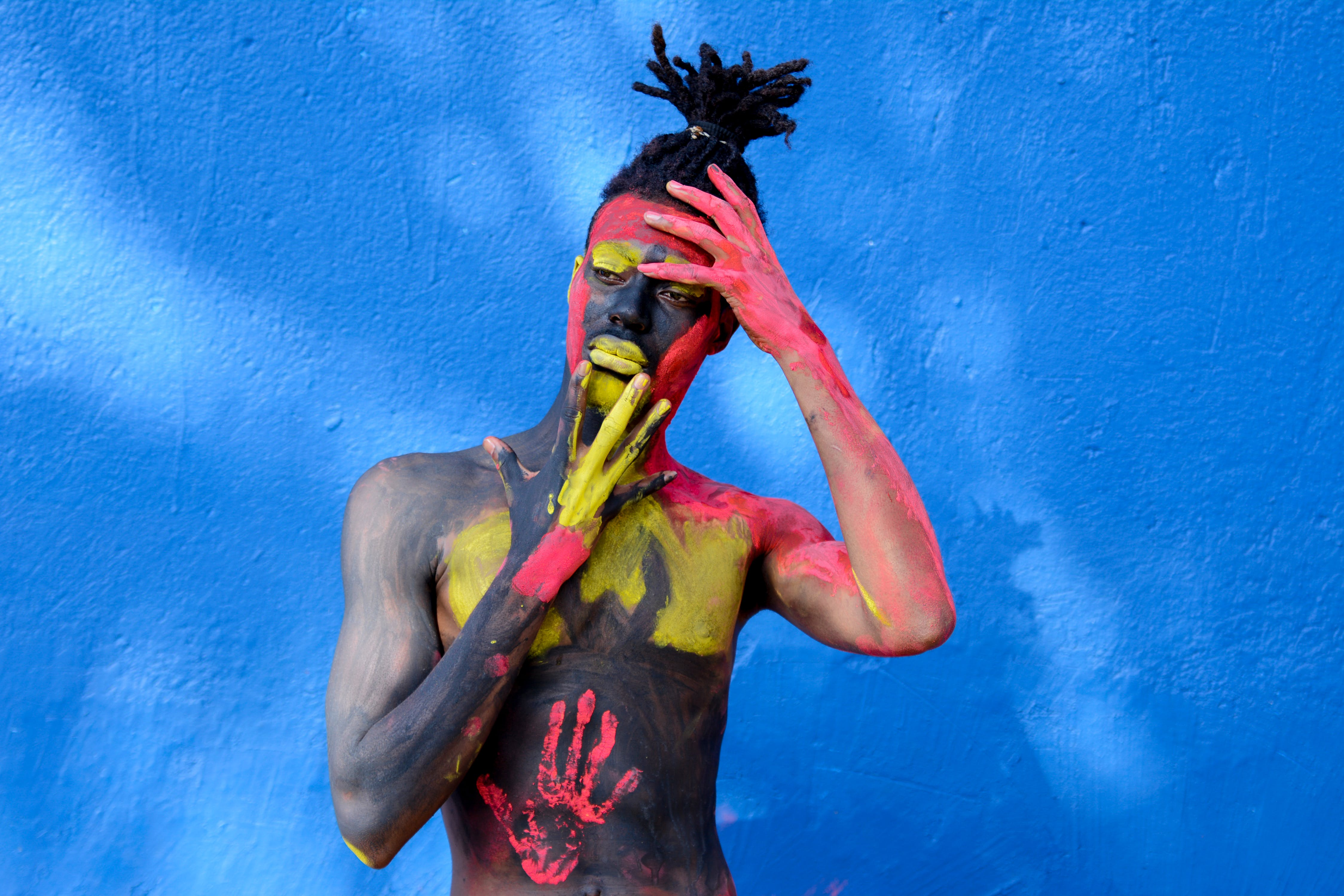 Person With Colorful Body Paint