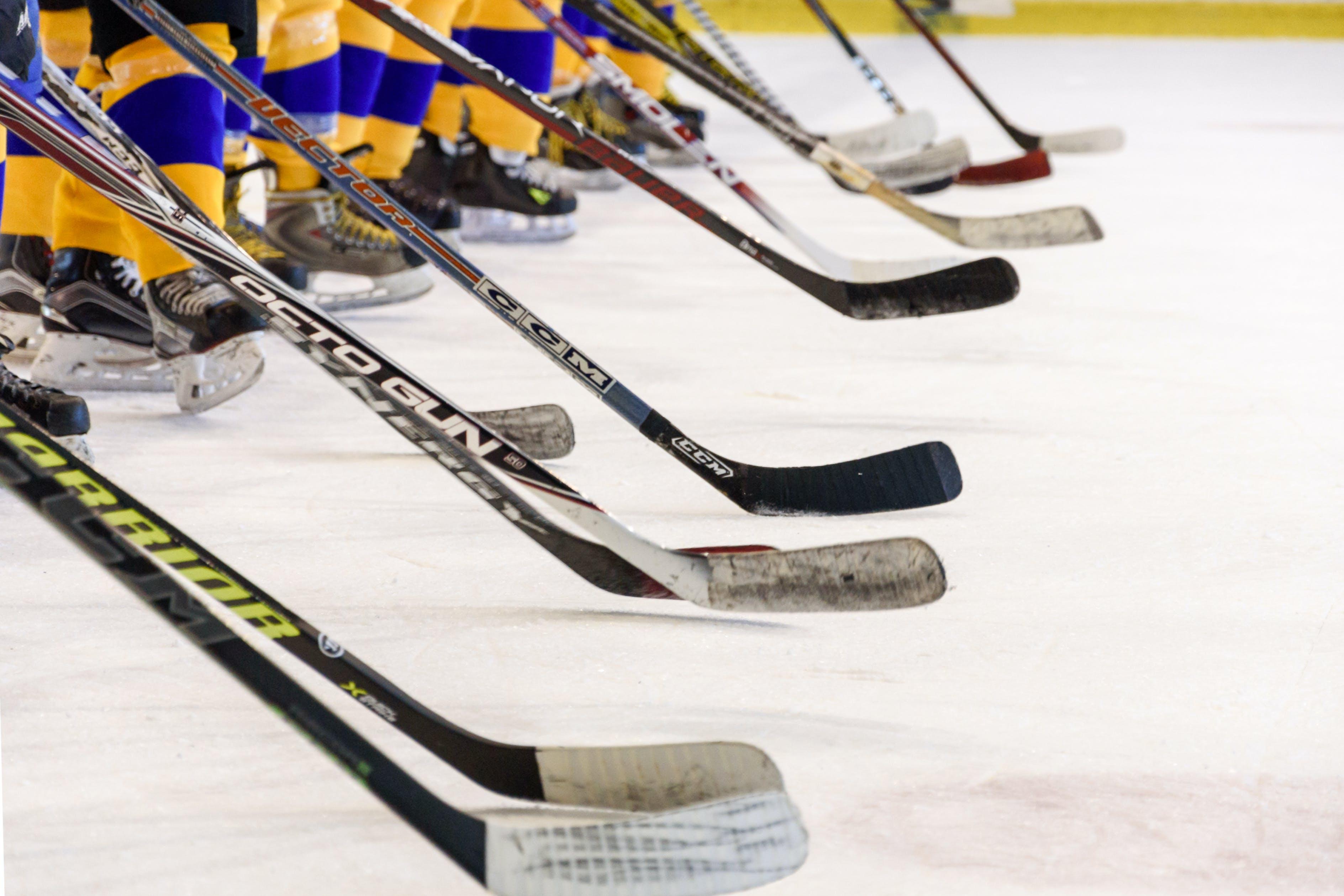 Black and White Hockey Sticks