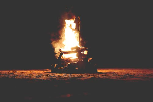 Stock Photography of Bonfire