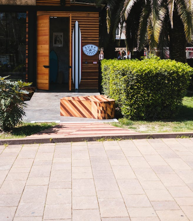 กระดานโต้คลื่น, กลางวัน, ต้นปาล์ม