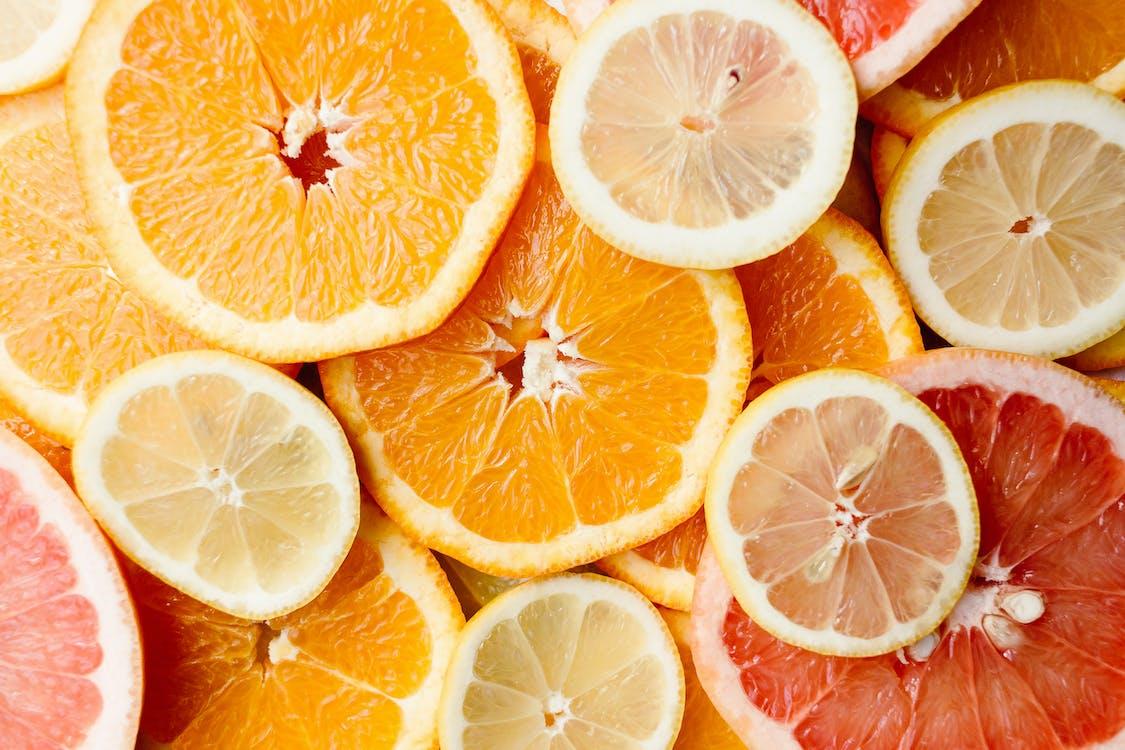 ananas, citrice, culori