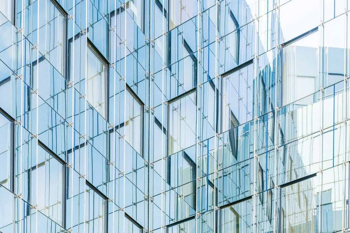 architektur, bürogebäude, glas