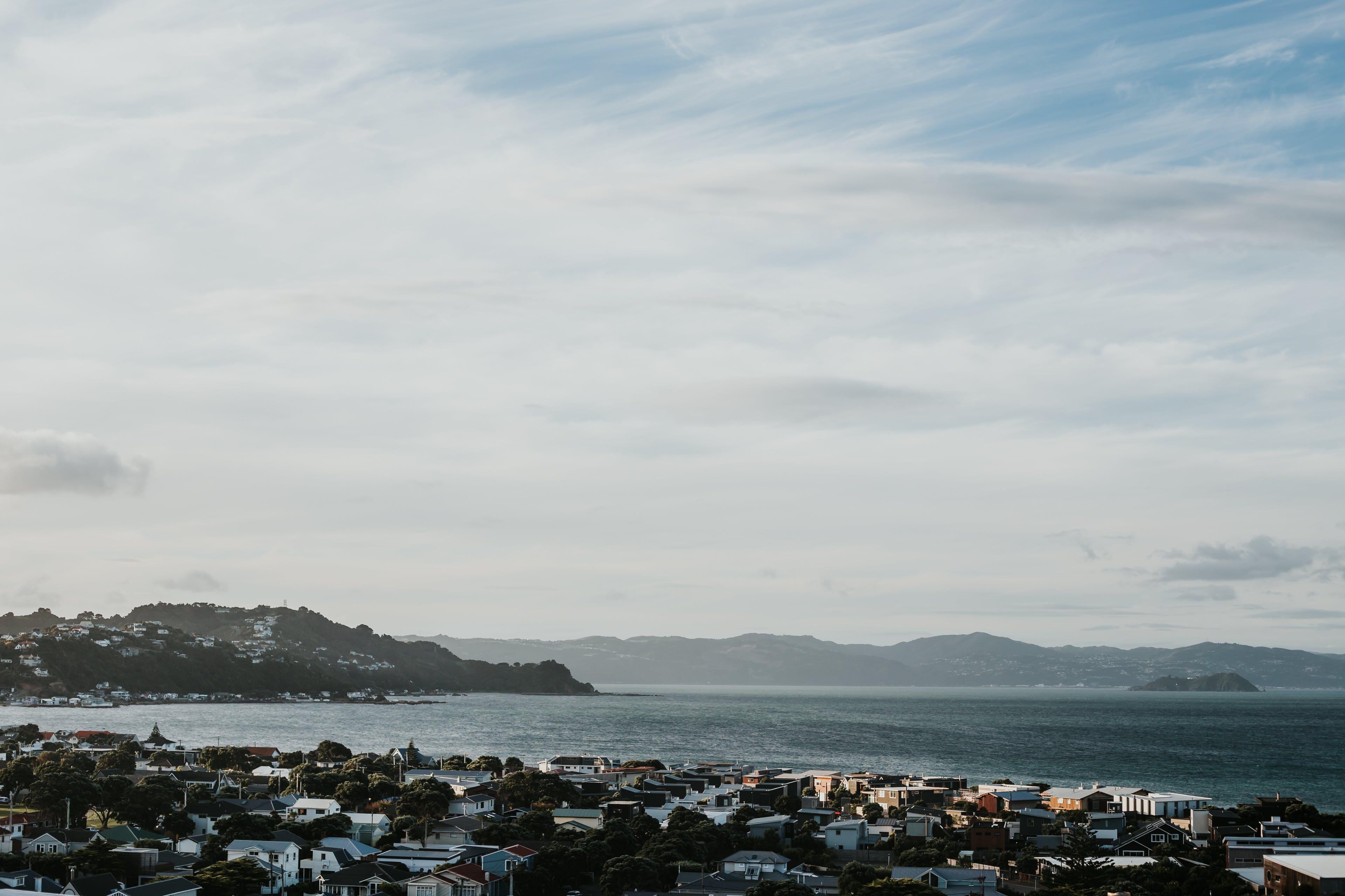 Photos gratuites de banlieue, bord de mer, coucher de soleil, coucher de soleil en hiver