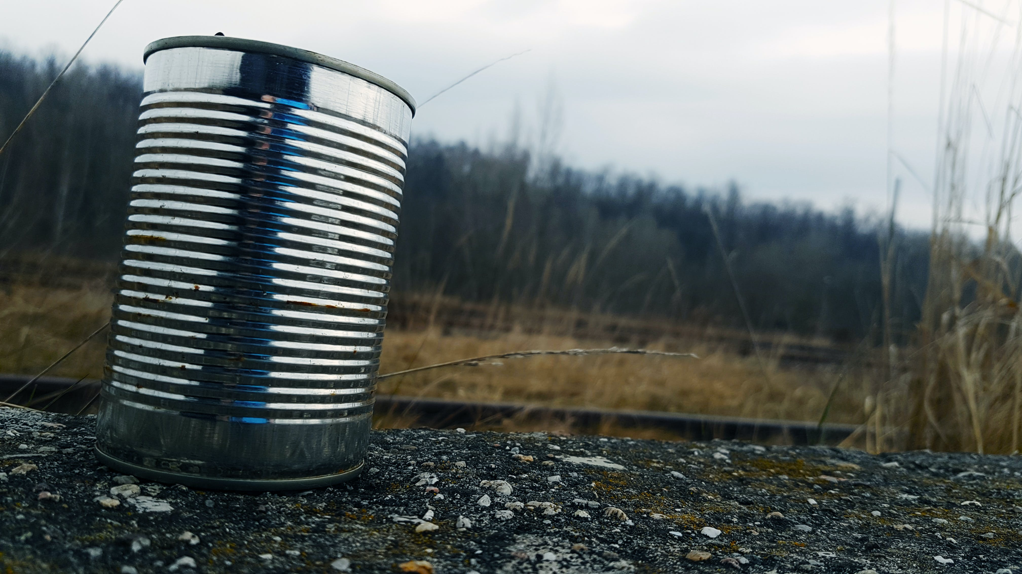 Tin Can on Gravel Surface