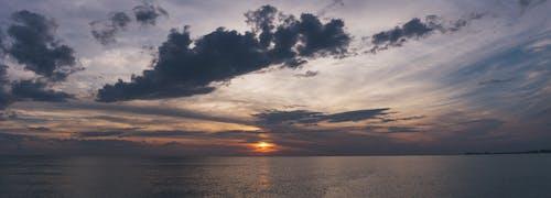 シースケープ, シルエット, ダーク, 夕方の無料の写真素材
