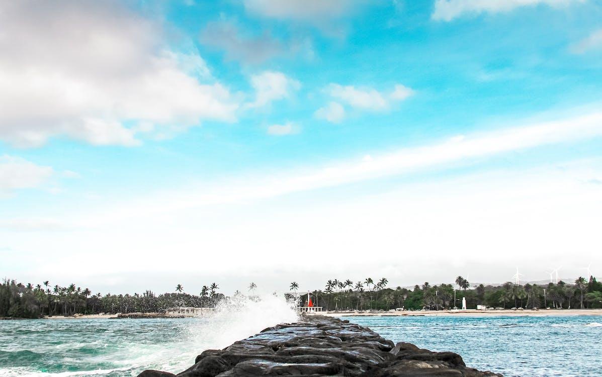 Ilmainen kuvapankkikuva tunnisteilla aallot murtuvat, dramaattinen taivas, havaiji