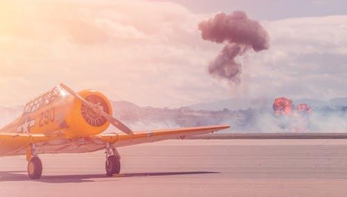 Foto stok gratis air, api, Bandara, bidang mendatar