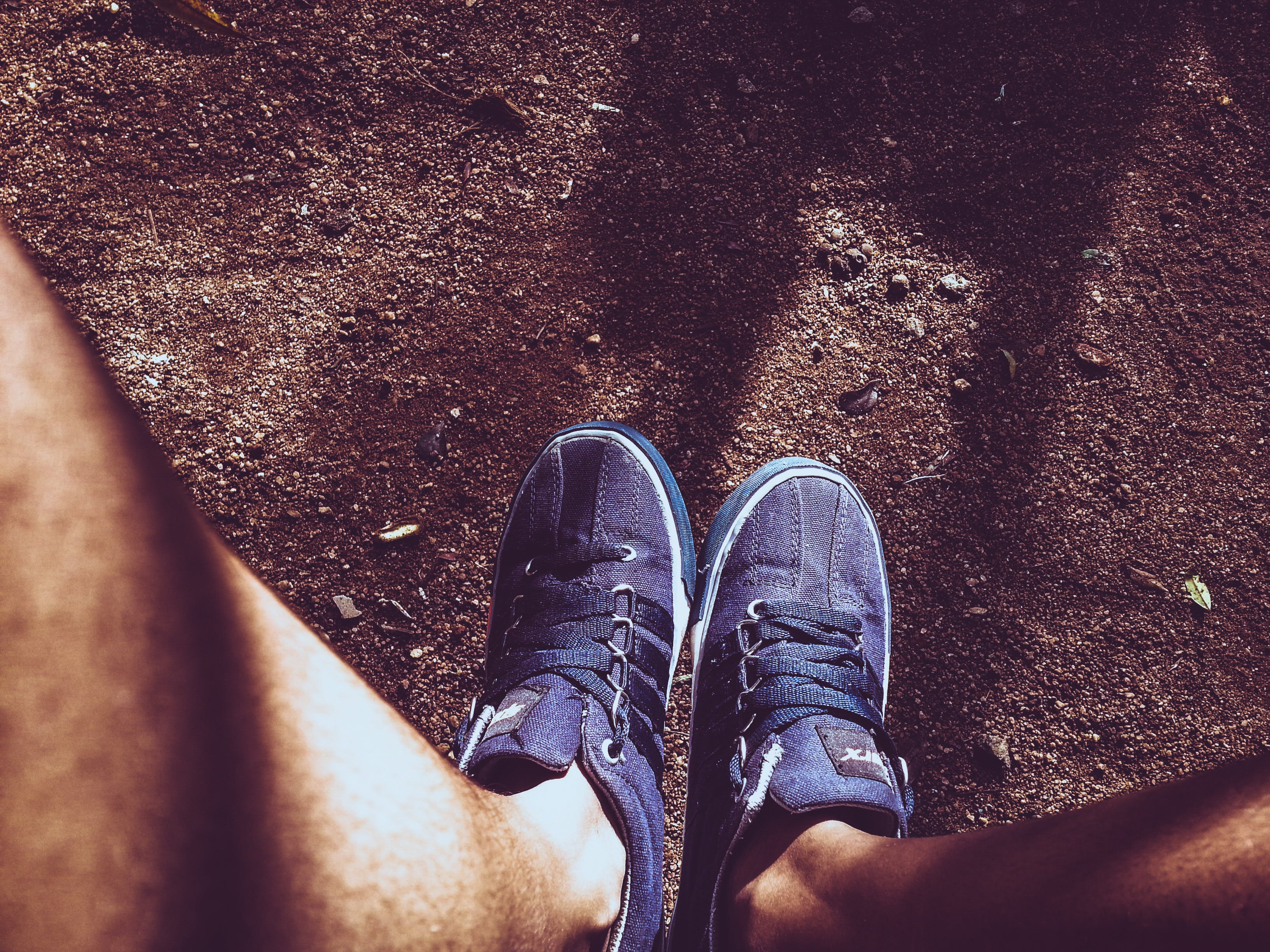 Photo of Pair of Blue Sneakers
