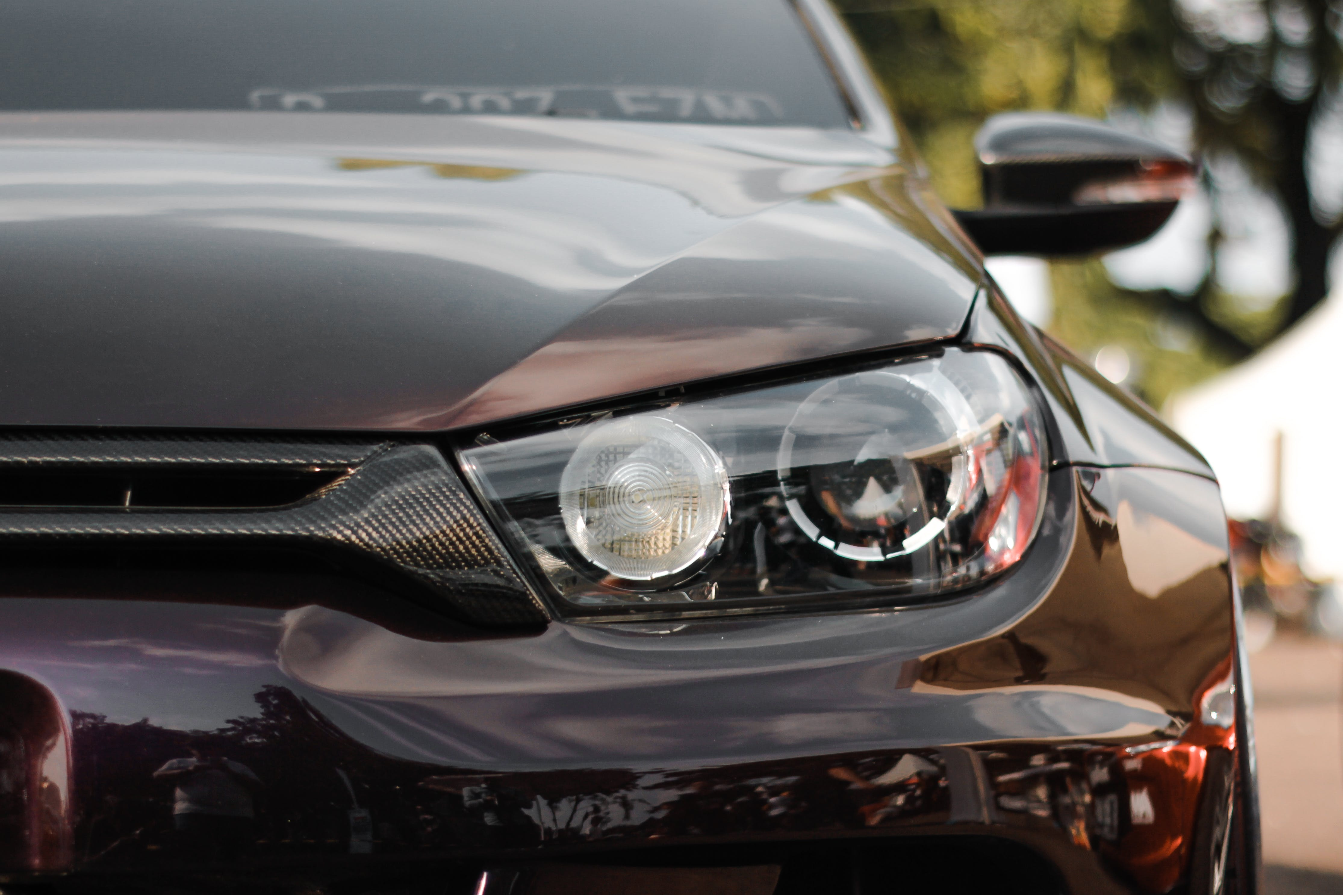 Close-Up Photography of Headlight