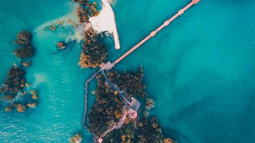 คลังภาพถ่ายฟรี ของ จากข้างบน, ทะเล, น้ำ, ภาพถ่ายทางอากาศ