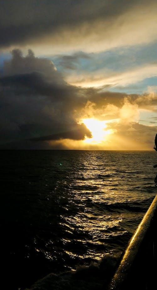 Gratis stockfoto met geel, h2o, oceaan, sunet