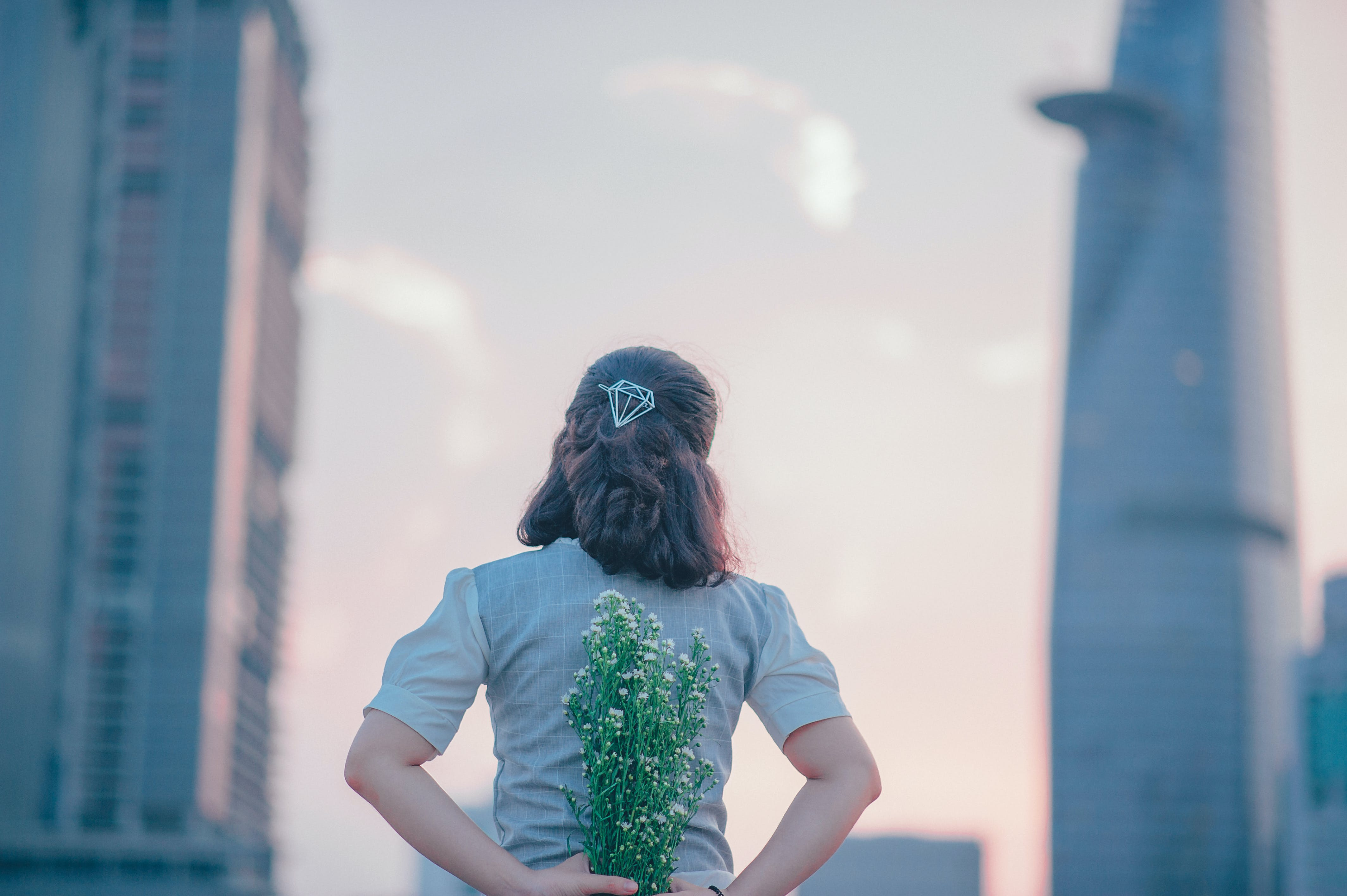 Kostnadsfri bild av blommor, Bukett, byggnader, dagsljus
