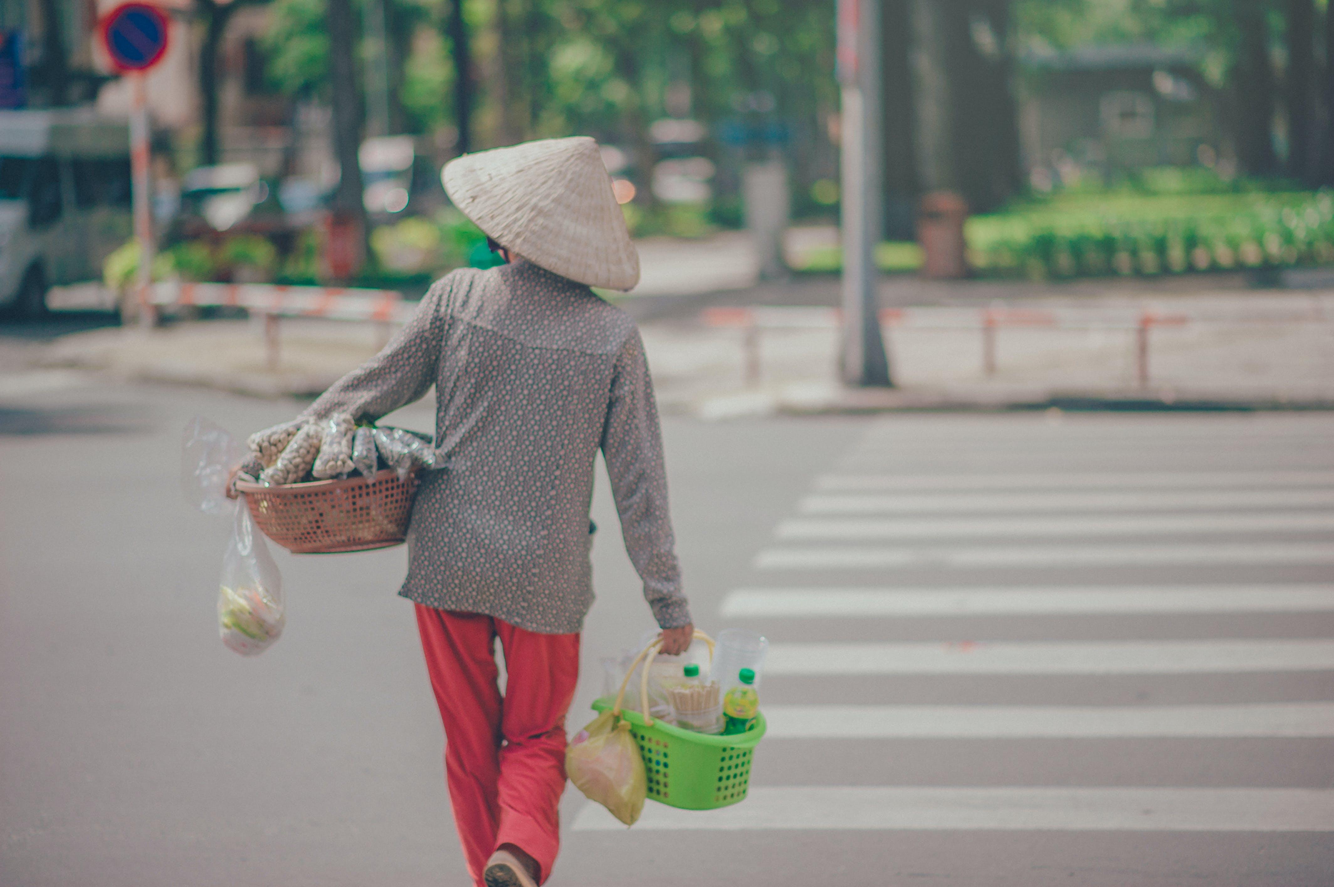 Woman Crossing Pedestrian