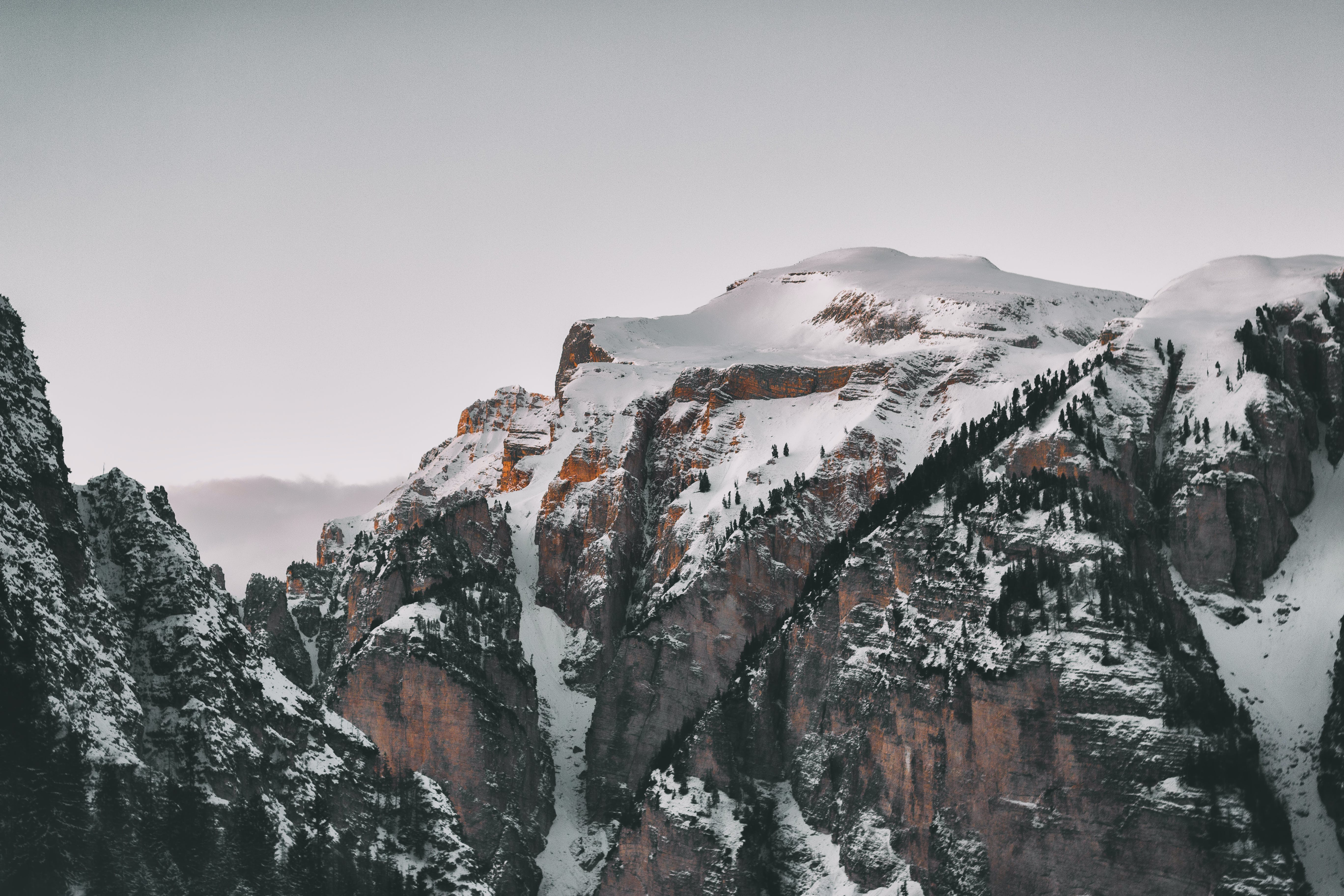 High-angle Photography of Snow Covered Mountains