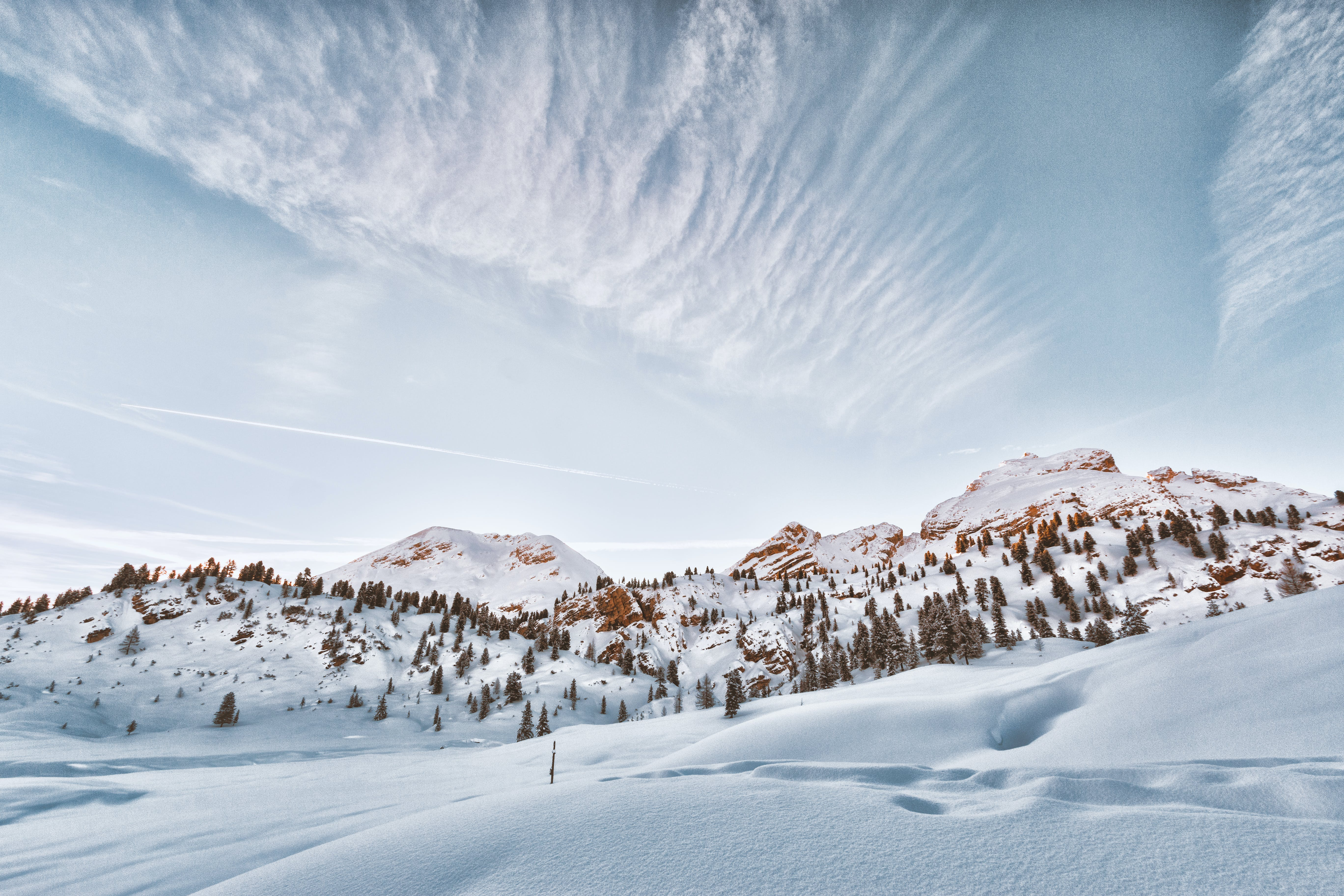 Landscape Photo of Mountain Filled With Snow