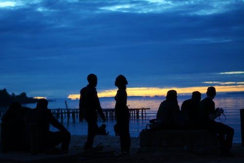 Fotos de stock gratuitas de a orillas del lago, acampada, playa, sol de la mañana