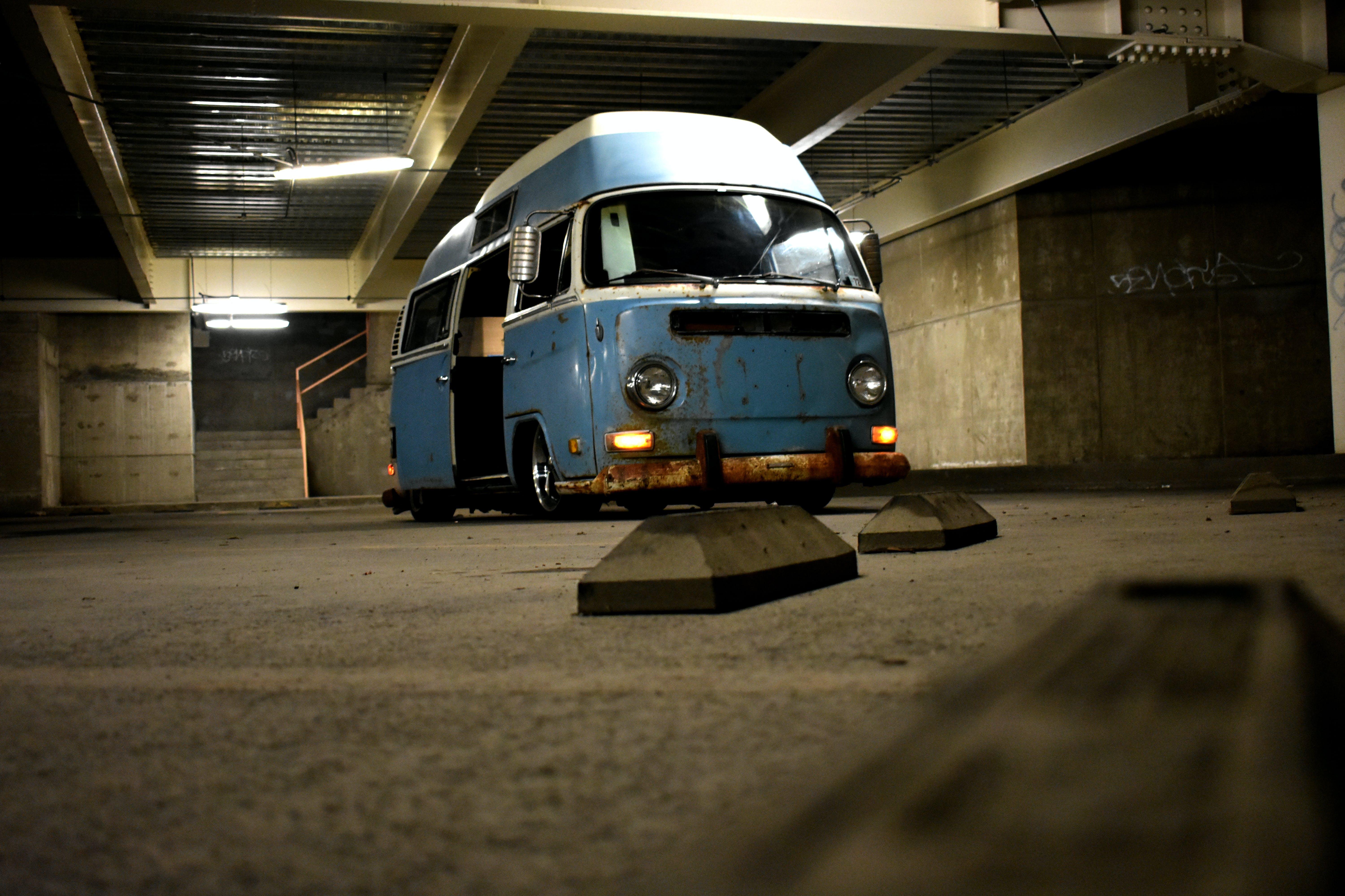 Free stock photo of camping, volkswagen, bumps, hightop