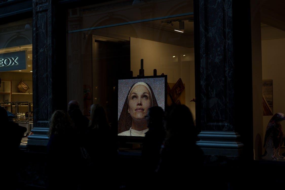 그림, 사람, 수녀