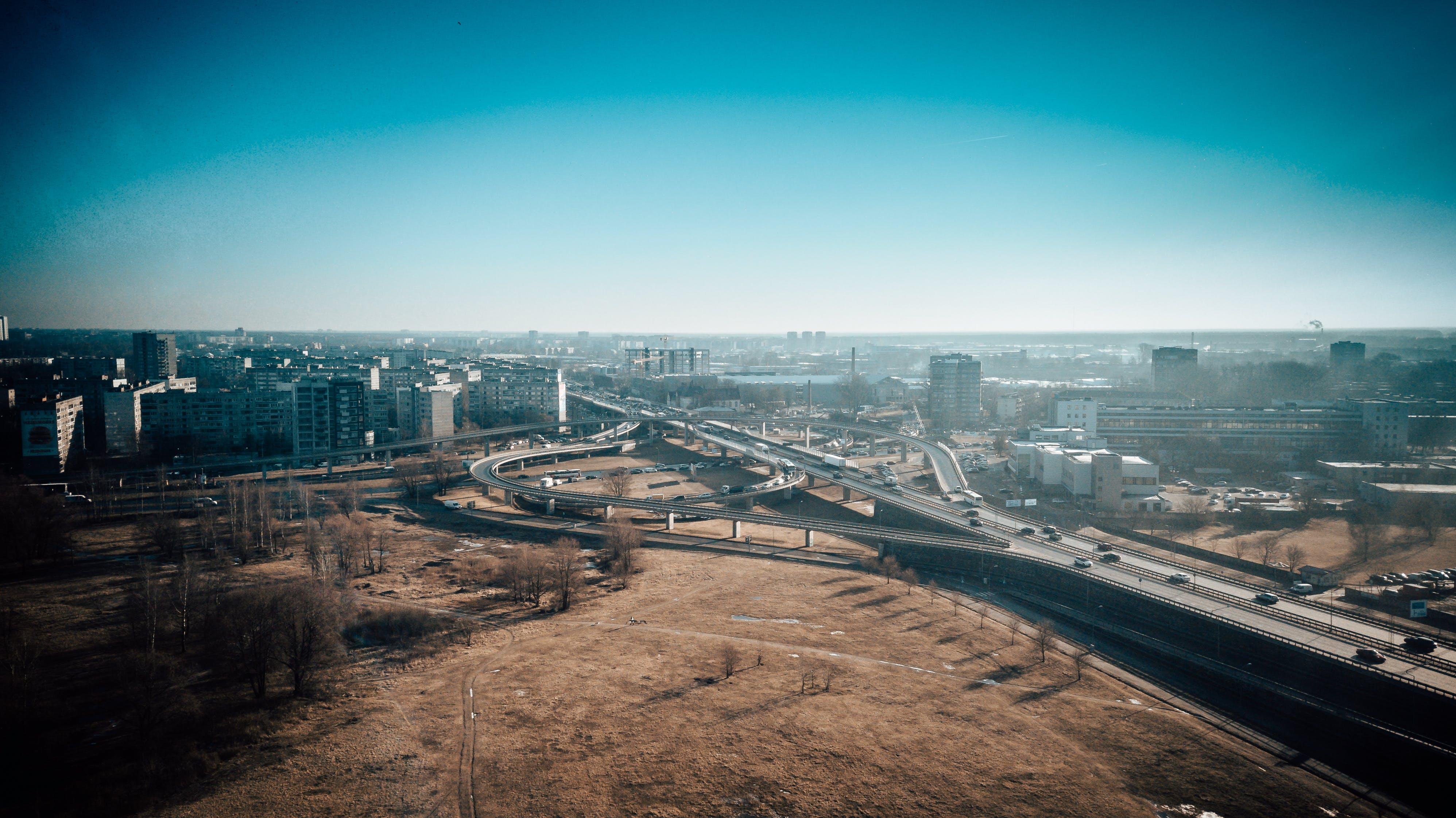 Free stock photo of aerial, aerial city, aerial shot, bridge