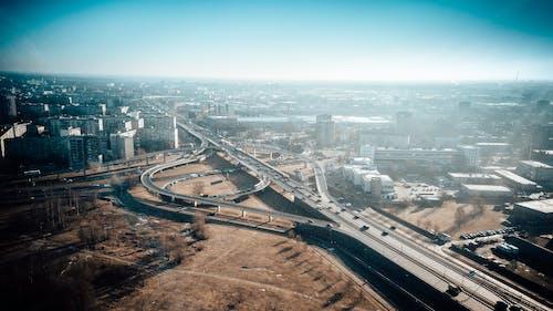 คลังภาพถ่ายฟรี ของ droneshot, ชีวิตในเมือง, ทางอากาศ, ฟุตเทตโดรน
