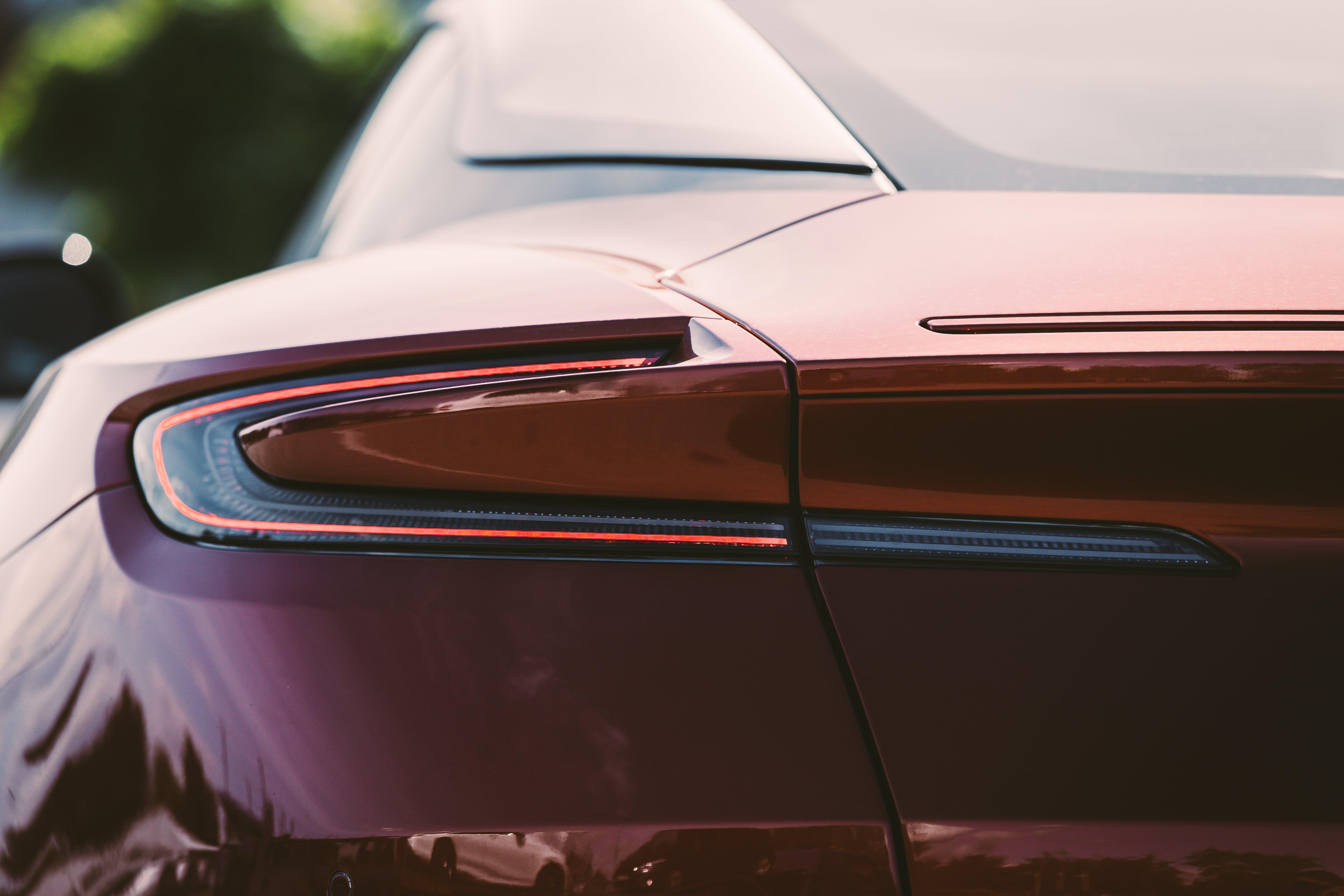 Red Aston Martin DB11 rear light