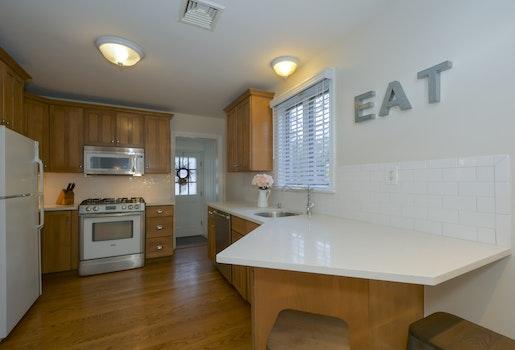 Free stock photo of kitchen, stove, oven, wooden floor
