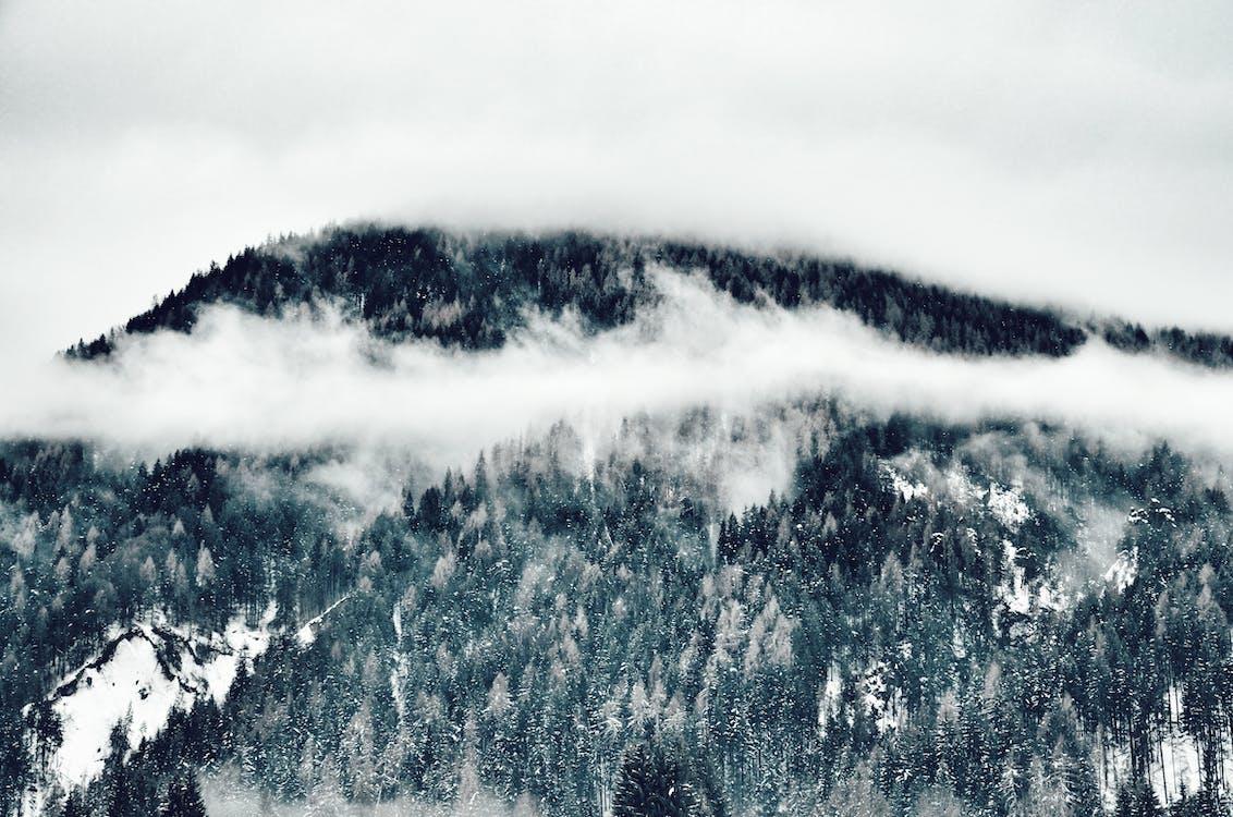 fotka zvysokého úhlu, hora, krajina