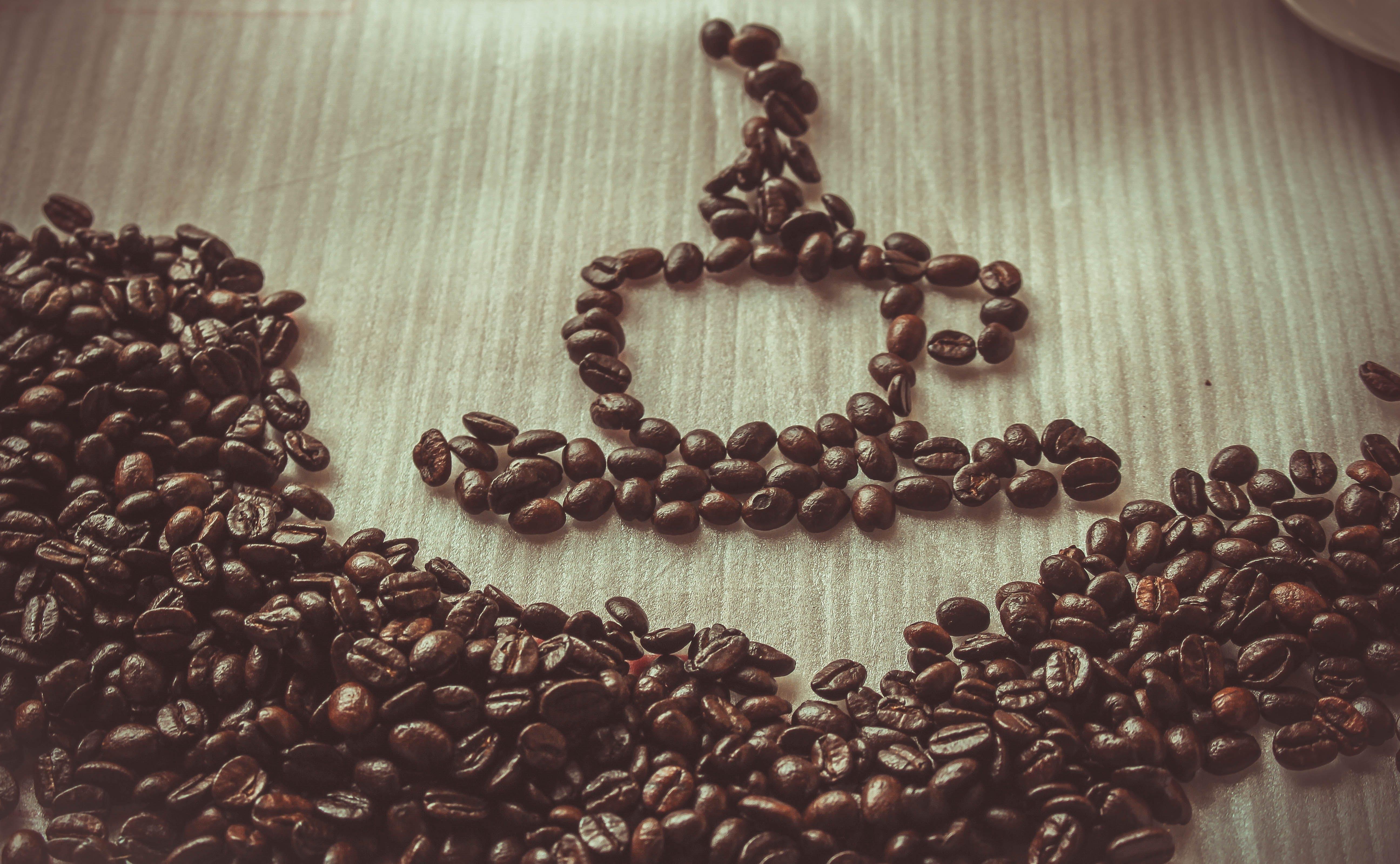 Brown Coffee Bean Forming Coffee Mug