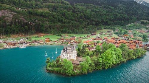 Photos gratuites de bord de lac, caméra drone, drone