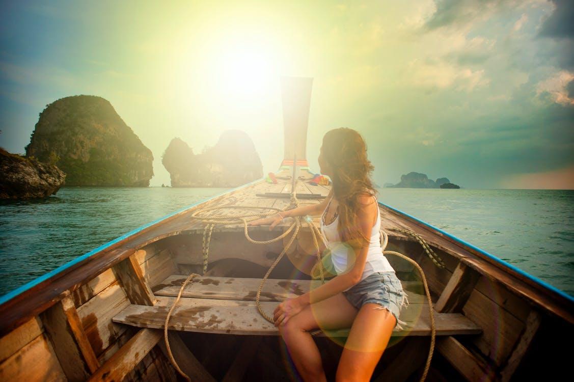 air, alam, berlayar