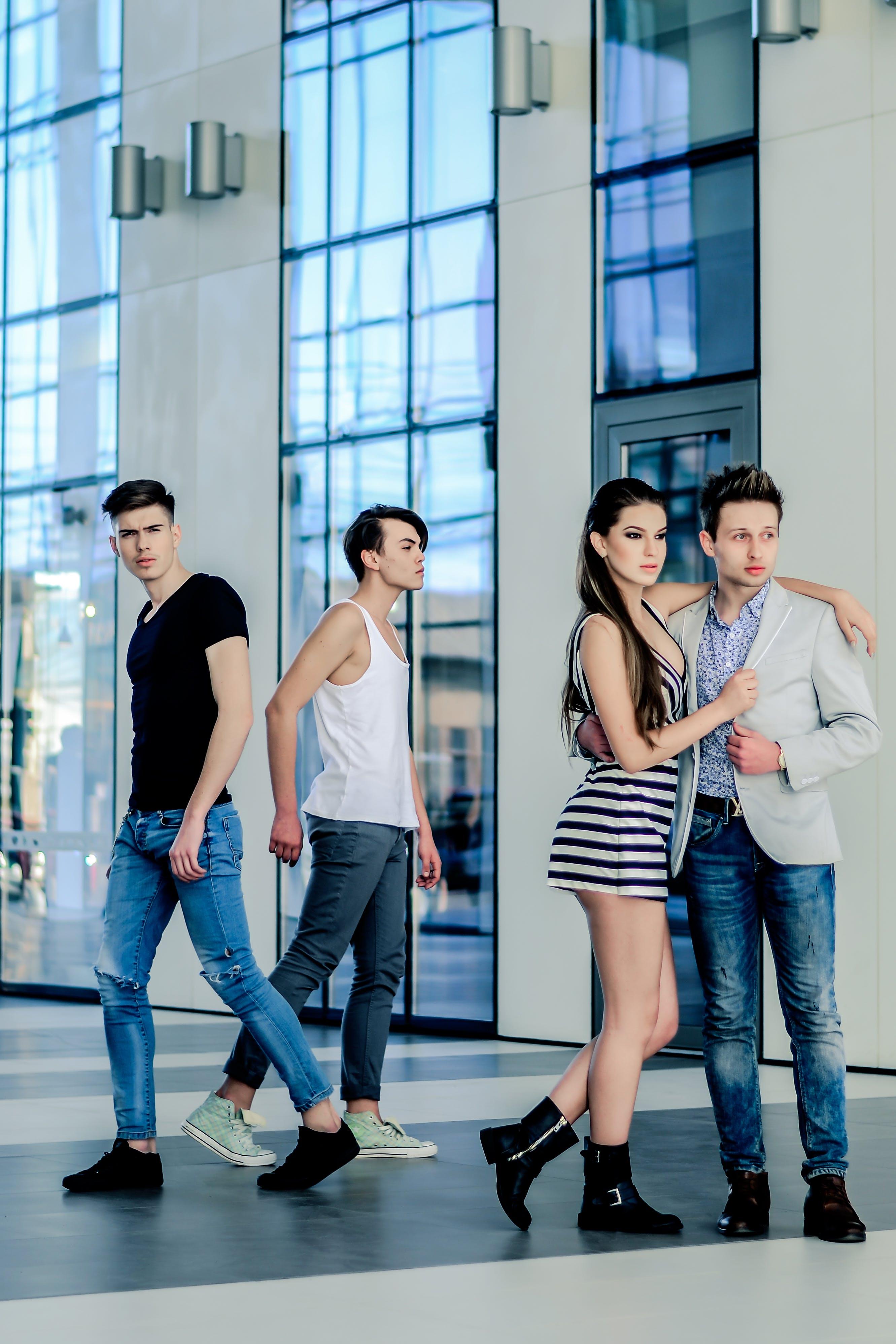 Models Posing