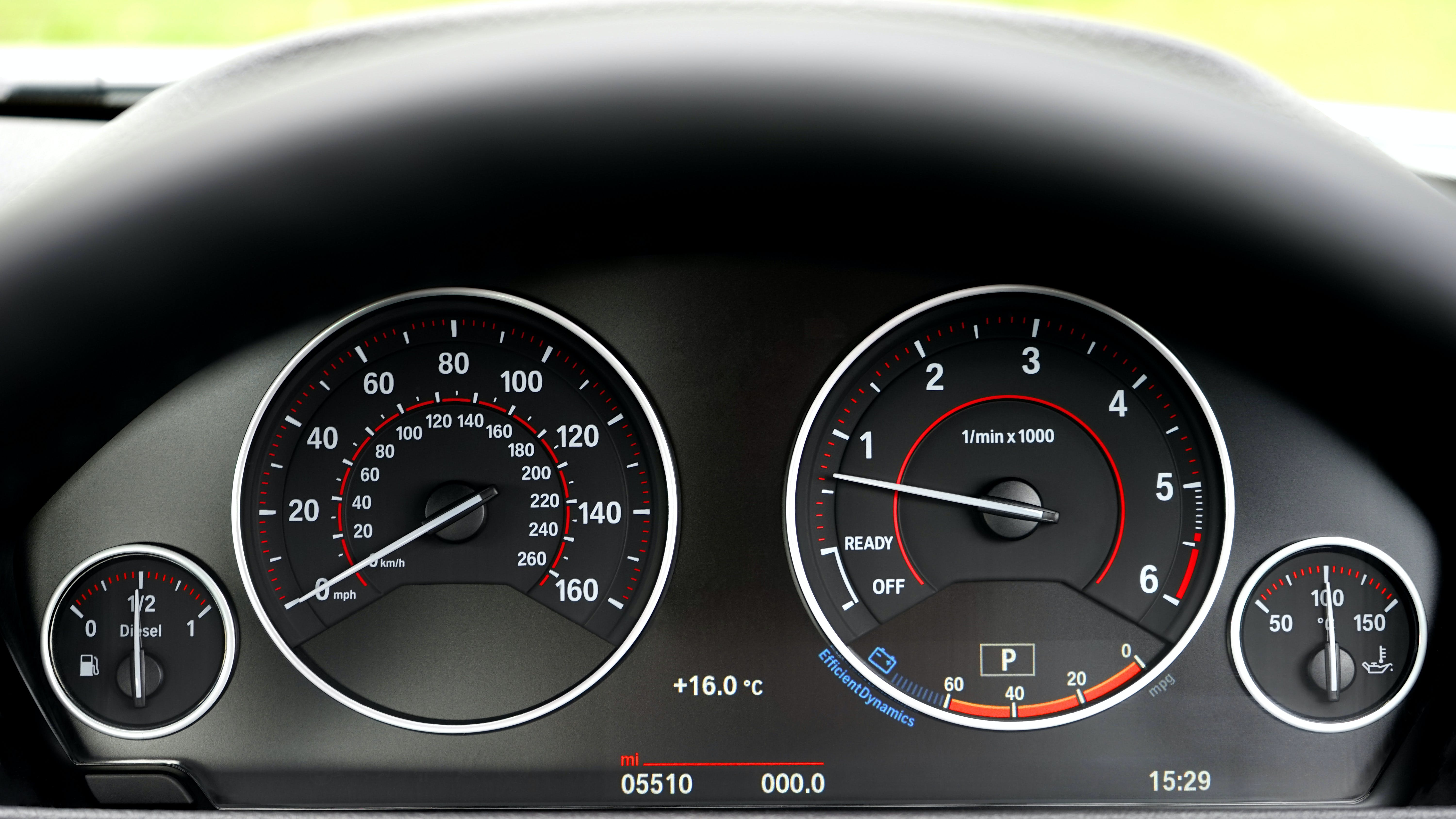 Black Vehicle Instrument Cluster Panel