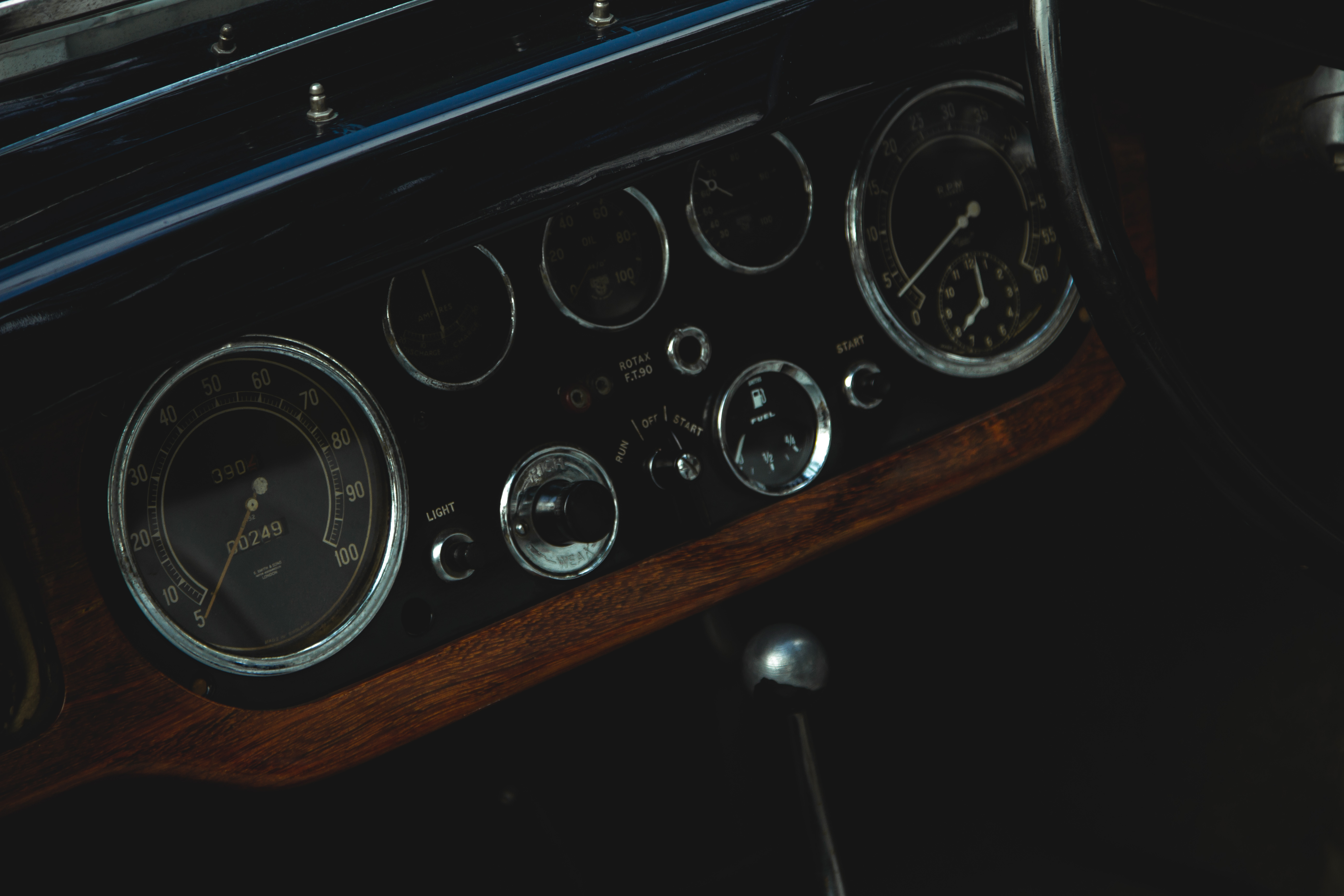 Photography of a Classic Car Gauge
